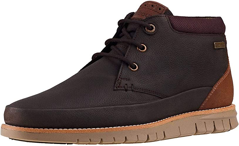 Mens Barbour Nelson Leather Winter Flat