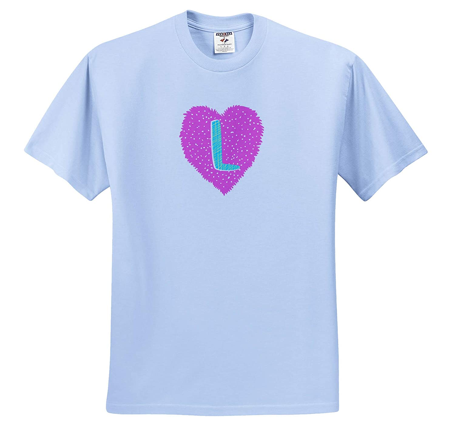 3dRose Carrie Image Quote Adult T-Shirt XL Image of Monogram Letter L ts/_317751