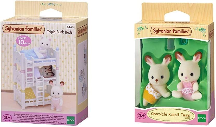 Amazon.es: SYLVANIAN FAMILIES Triple literas (Epoch para Imaginar 4448) + Chocolate Rabbit Twins Mini muñecas y Accesorios, (Epoch para Imaginar 5080): Juguetes y juegos