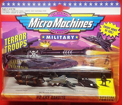 Combat Force Micro Helicopter - Micro Machines Sky Bandits #2 Military Collection by Galoob MicroMachines