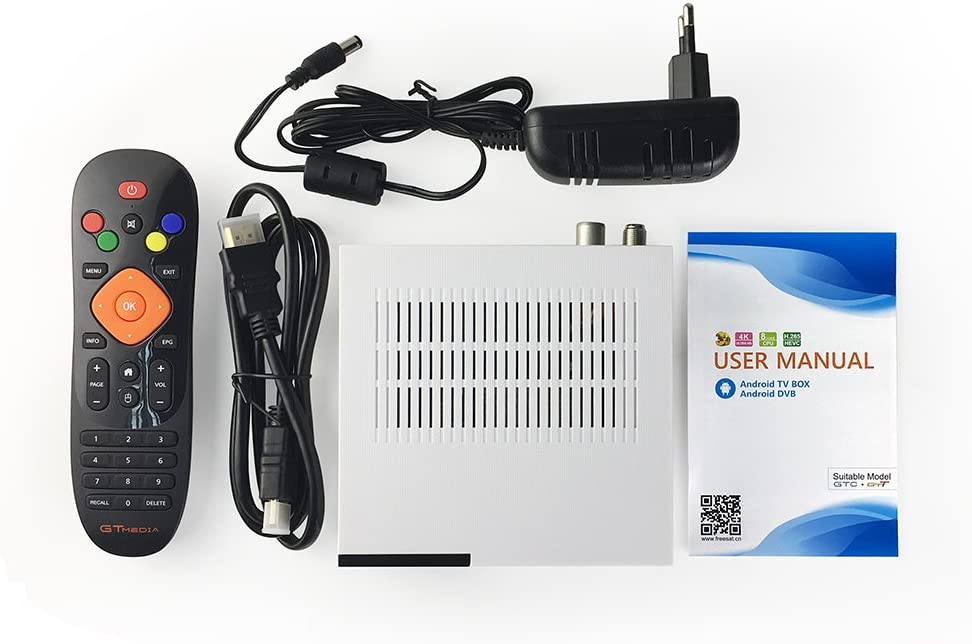 GTMedia - Receptor de satélite GTC DVB-S2&T2&C ISDB-T-T, Amlogic S905D, Android, 6,0 GB, RAM 16 GB, ROM BT4.0, Compatible con UHD 4K 30 fs/60 fps H.265 MPEG-40: Amazon.es: Electrónica