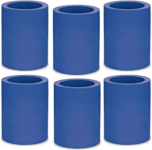 KOOZIE Thick Foam Can Cooler   The Original Insulated Cooler for Beer Cans & Bottles   6 Pack Blank 12 oz Non-Collapsible Can Hugger   Personalized Gifts for Events, Weddings, Parties   Royal Blue