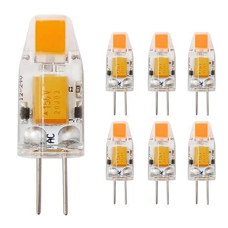Bombilla LED G4 Capsule COB 1 W 12 V CA/DC equivalente a 10 W
