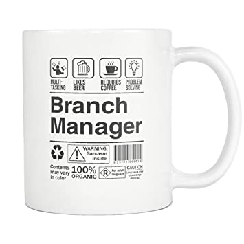 Amazon Com Branch Manager Product Label Coffee Mug Funny Gift Tea