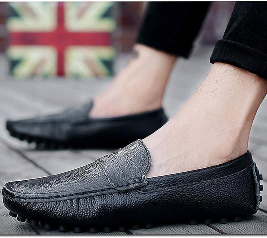 Hommes Mocassins Respirant Cuir Slip on Flats /Étanche R/ésistant /À lusure Plus La Taille 49 De Conduite Occasionnelle Chaussures Hommes