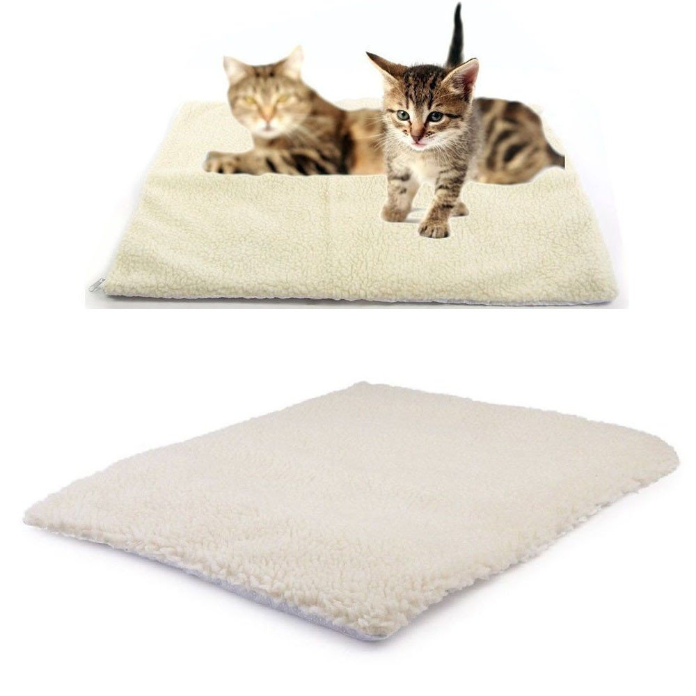 callm Self Heating Dog Cat Pet Bed Thermal Washable No Electric Blanket Required (White, 64cm x 46cm) by callm (Image #5)