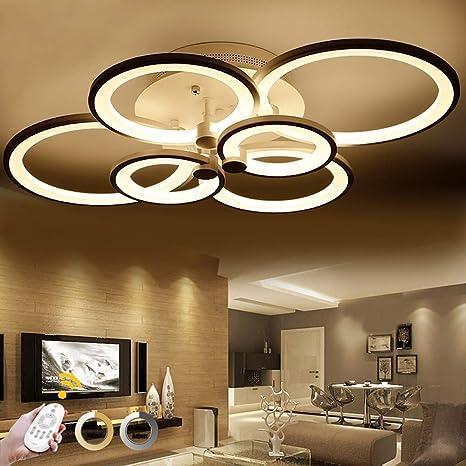 HZC Luz de techo LED, 6 cabezales regulables Sala de estar ...