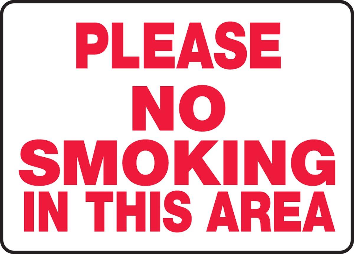 Amazon.com: Por favor no fumar en esta área 10 x 14 .125 ...