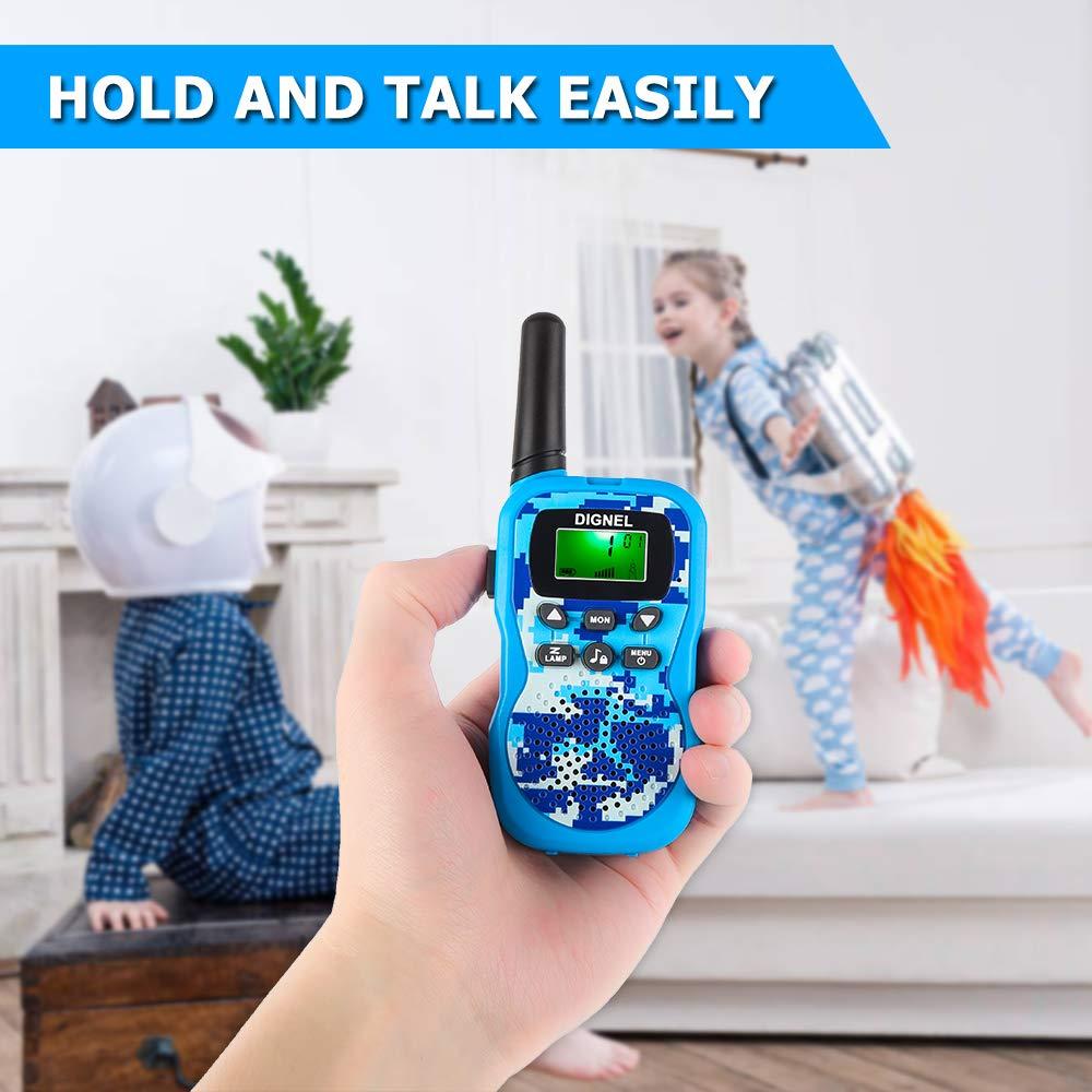 Dignel Walkie Talkies, Kids Walkie Talkies, 2 Packs 22 Channels Outdoor Toys, 3 Miles Range Walkie Talkies for Kids Camping Outdoor Adventures by Dignel (Image #6)
