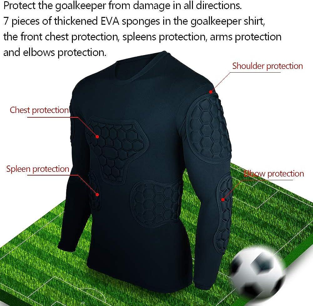 Shinestone Mens Sport Soccer Crashproof Goal Keeper Goalie Padded Jersey