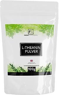 L-Teanina Polvo Puro de Focus Supplements | PARA CALMA Y ENFOQUE | Relajación mejorada