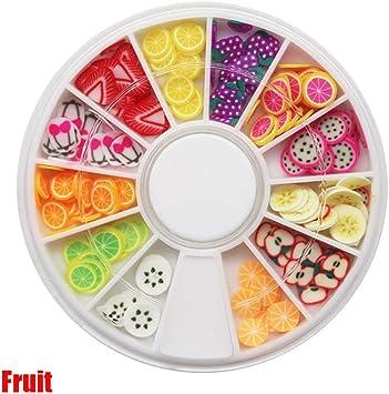 Fruta/pastel DIY Crystal Slime suministros accesorios Decoracion uñas consejos de arte rodajas caja de juguetes para niños Slime accesorios: Amazon.es: Juguetes y juegos