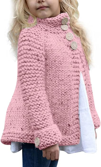 d21d607afc2a Amazon.com  KONFA Baby Girls Solid Color Knitted Cardigan Sweater ...
