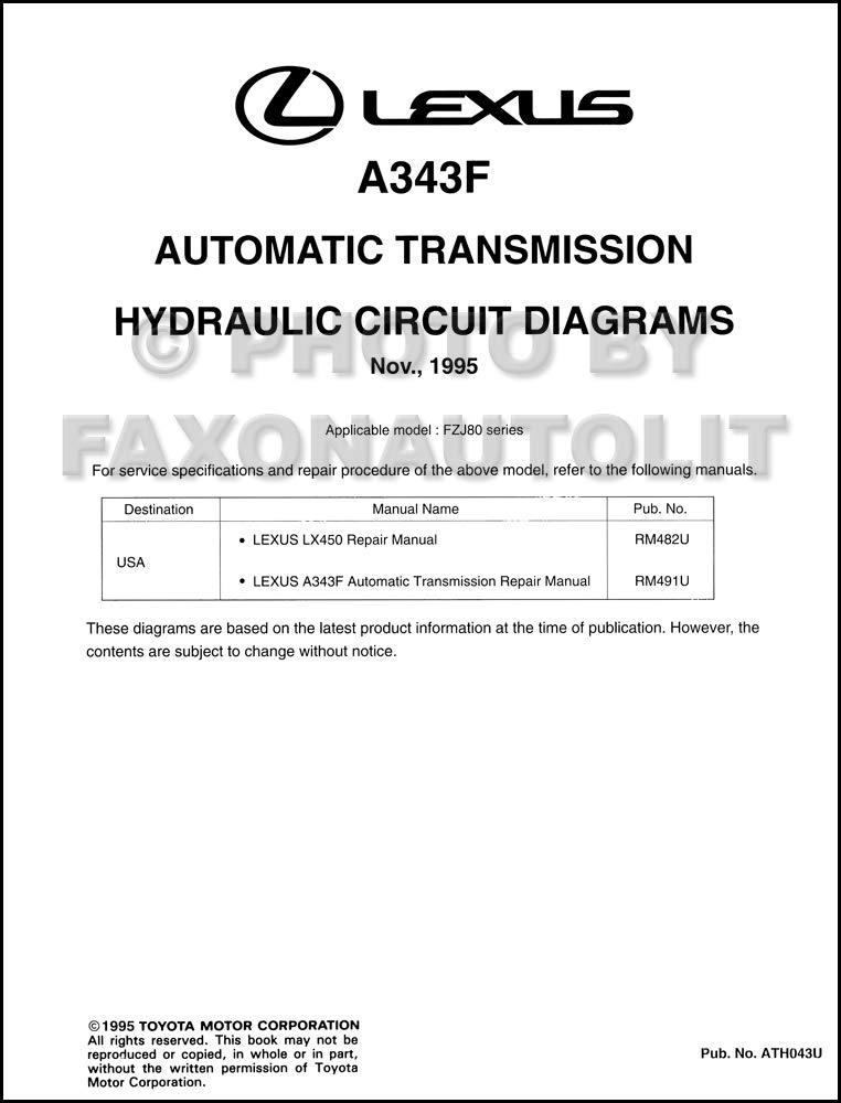 1996 Lexus LX450 Automatic Transmission Hydraulic Circuit Diagrams: Lexus:  Amazon.com: BooksAmazon.com