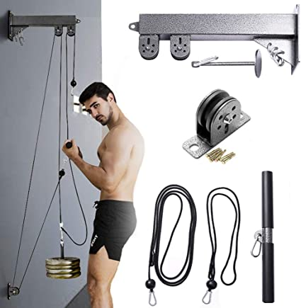 Fitness Pulley Cable Attachment System Biceps Triceps Blaster Pulldown Home Gym