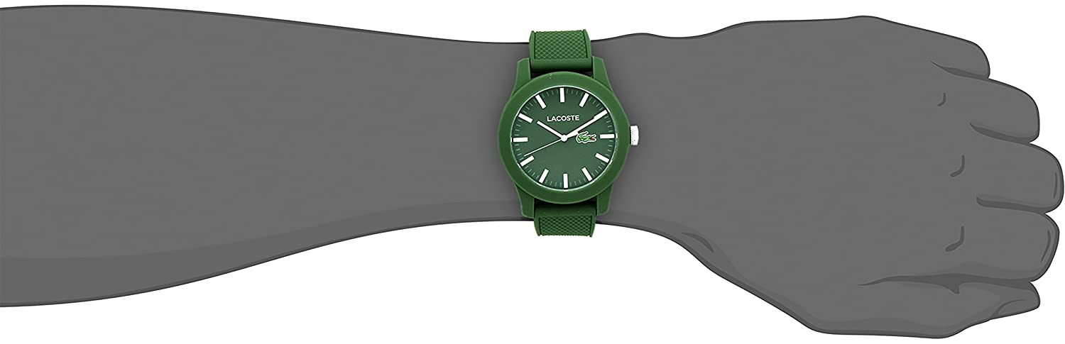 lacoste men s 2010763 lacoste 12 12 green resin watch lacoste men s 2010763 lacoste 12 12 green resin watch silicone band amazon co uk watches