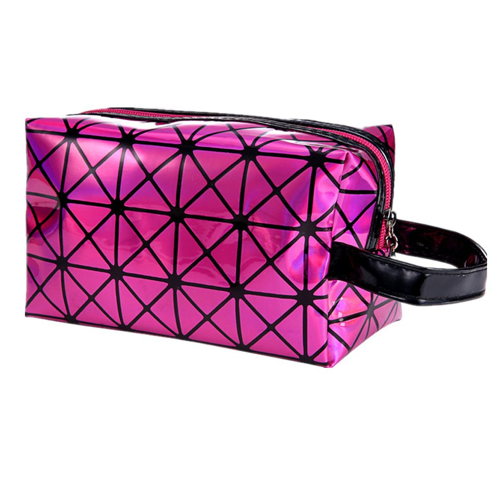 Women Cosmetic Bag, Folding Travel Make Up Handbag Clutchbag Makeup Cases Organizer for Ladies Anself W6341S-EECOYM