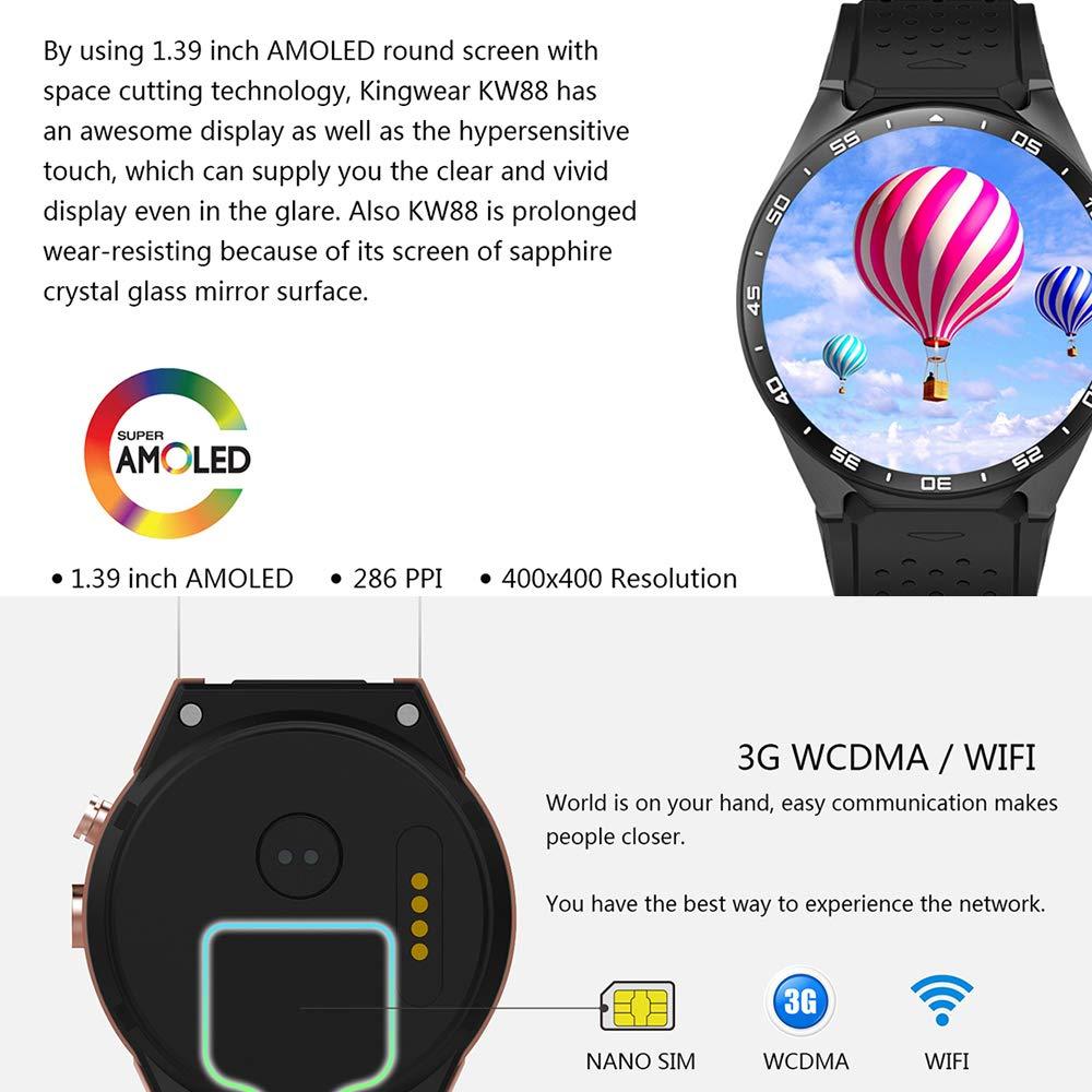ZUKN 3G Smartwatch 1.41 Pulgadas Amoled Screen Fitness Tracker con ...
