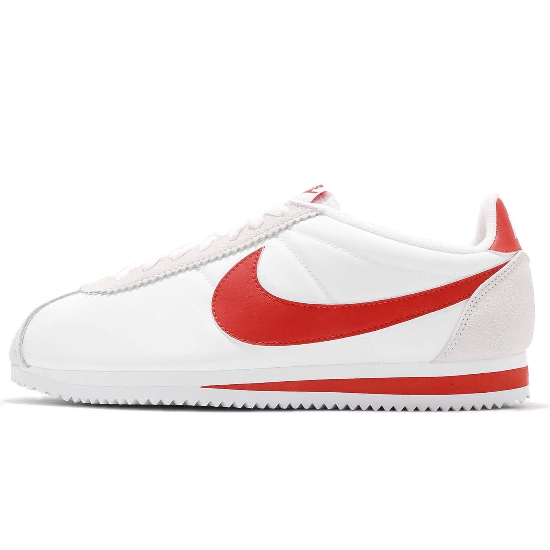 (ナイキ) クラシック コルテッツ ナイロン メンズ ランニング シューズ Nike Classic Cortez Nylon 807472-101 [並行輸入品] B07DNC6CNW 25.5 cm WHITE/HABANERO RED