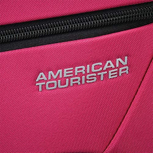 American Tourister 4 Kix Expandable Softside Luggage with Spinner Wheels, Pink, Carry-On 21-Inch
