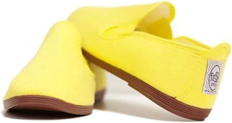 FunkyFashion Unisex Womens Mens Ladies Javer Flossy Espadrilles Plimsoll Flat Shoes Pumps 40 Amarillo Yellow UK7