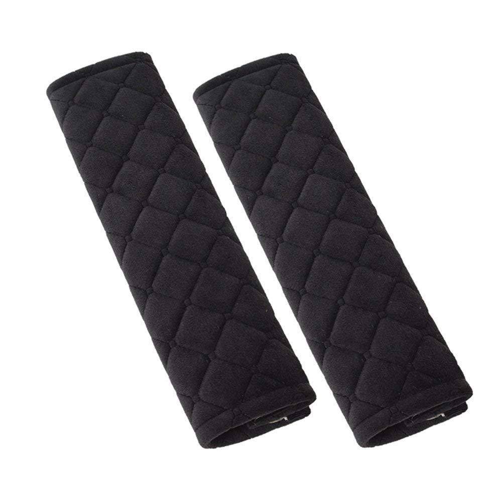 Keisl Auto-Sicherheitsgurtpolster, komfortabler Sitzgurt, ein Paar 27 cm, für vier Jahreszeiten, aus Plüsch, für Kindergurt, Schulterschutz (schwarz)