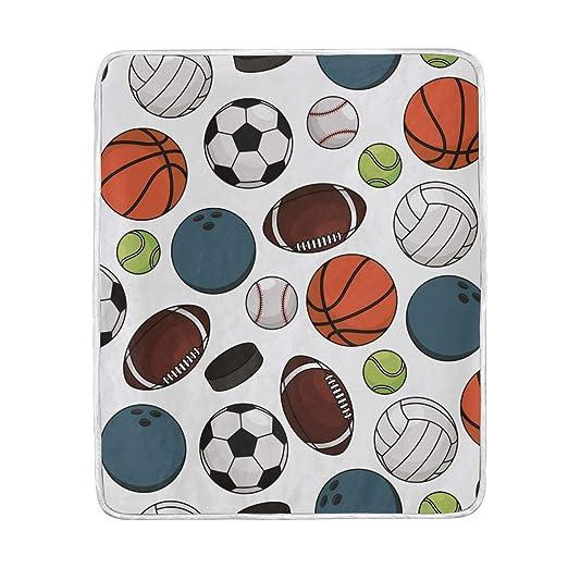 Ahomy - Manta de Baloncesto Suave y cálida, tamaño de Viaje, 127 x ...