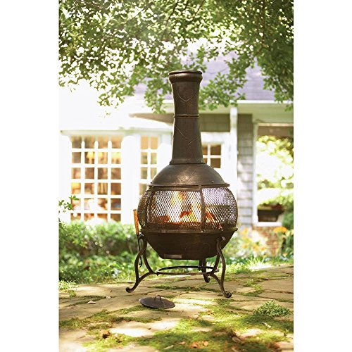 Copper Chiminea Fire Pit: Hampton Bay Cast Iron Chiminea With Screen And Fire Poker