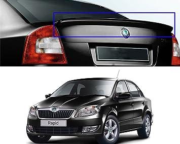 Autopearl Oe Type Car Spoiler For Skoda Rapid Lip Deep Black