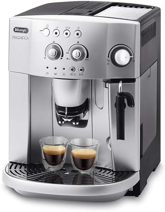 Delonghi Magnifica Esam 4200.S - Cafetera superautomática, 1450w, sistema cappuccino, capacidad 1,8l, 15 bares presión, plateado: Amazon.es: Hogar