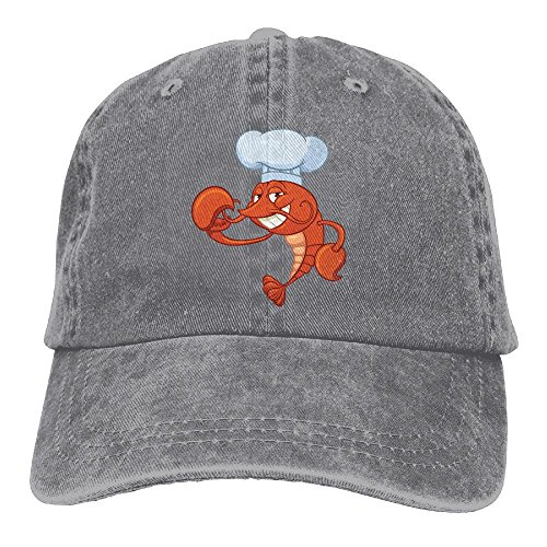 Andwoor Lobster Chef Cotton Adjustable Washed Twill Baseball Cap Hat -
