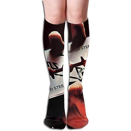 8f3ccdc2140 KennedyF Unisex Judas Priest British Steel Knee High Socks Stockings Soft  Tube Socks Novelty Crew Athletic