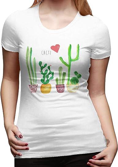Classic Cotton Cactus Love - Camiseta básica de manga corta ...