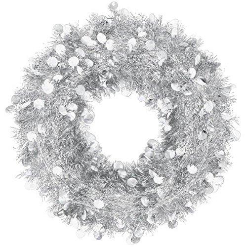 (Amscan Silver Tinsel Wreath)