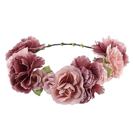 26d4859c ULTNICE Diadema de flor guirnalda Floral corona guirnalda para fiesta de  boda Featival