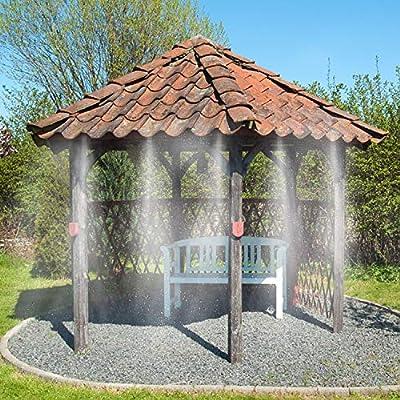 Becoyou Trampoline Sprinkler for Kids,39ft Outdoor Trampoline Sprinkler Waterpark Fun Summer Outdoor Water Games Yard Toys Sprinklers Backyard Water Park for Boys Girls: Garden & Outdoor