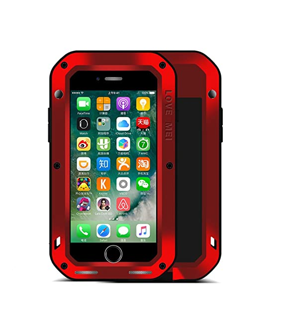 wholesale dealer 6dd5b 1032f Amazon.com: iPhone 7 Plus Case,Mangix Love Mei Shockproof Aluminum ...