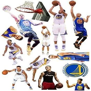 Nba Star Kobe Kobe Curry Pegatinas de pared Baloncesto Star James ...