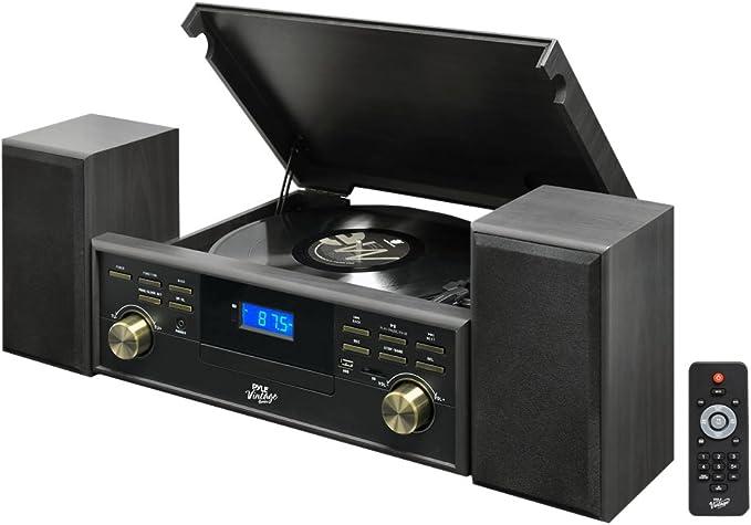 Amazon.com: Pyle pptcm80btgr Tocadiscos Bluetooth Vintage ...
