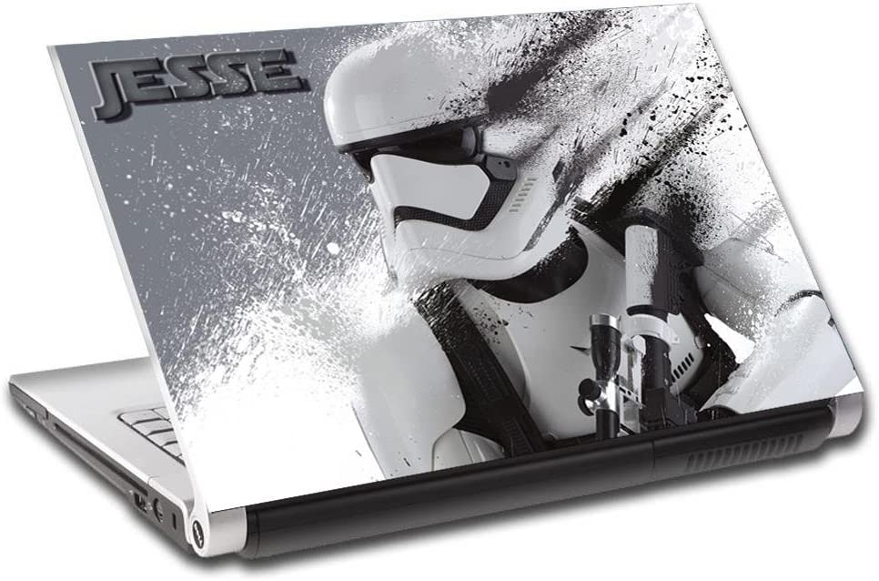 Star Wars Stormtrooper Personalized LAPTOP Skin Vinyl Decal Sticker NAME L337, 15.6