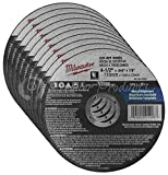 Milwaukee 10 Pack - 4 1 2 Cutting Wheels For Grinders - Aggressive Cutting For Metal & Stainless Steel - 4-1/2'' x .045 x 7/8-Inch | Flat Cut Off Wheels