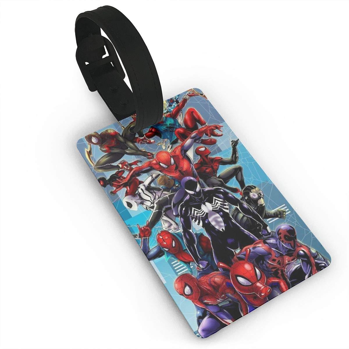 WSXEDC 荷物タグ スパイダーマン クールスーツケースラベル バッグタグ トラベル ID 識別 荷物タグ B07SKH8SQH