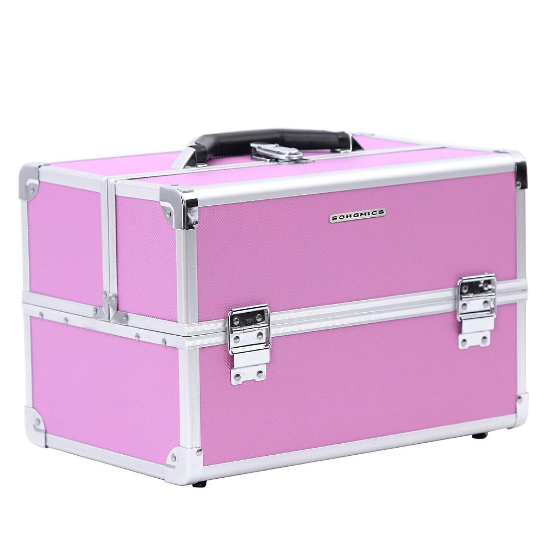 Songmics Maletin para maquillaje alu maletín organizador