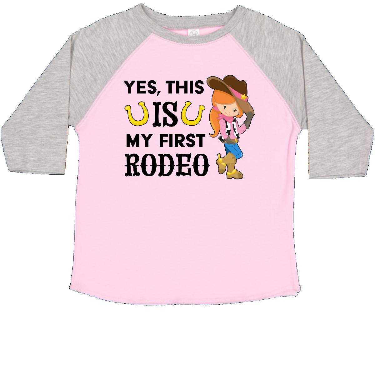 This is My First Rodeo inktastic Yes Cowgirl in Hat and Boots Toddler T-Shirt