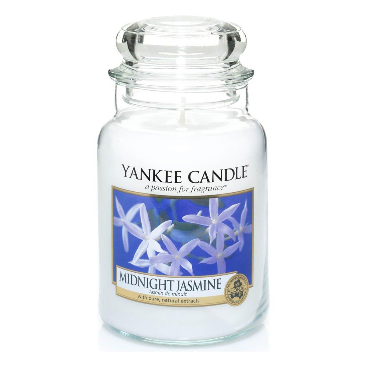 Offizielle Offizielle Offizielle Yankee Candle Midnight Jasmine mit klassischer Unterschrift, Glas 623 g – sicherer Versand-Box a2b028