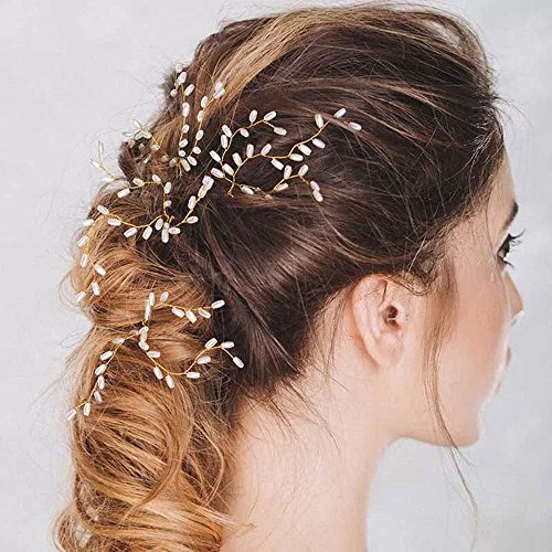 Unicra Handmade Gold Hair Pins for Brides and Flower Girls(pack of 3) by Unicra (Image #1)
