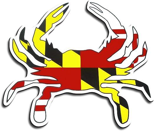 Maryland Flag Crab Shaped Fridge Magnet