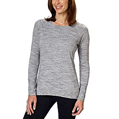 c06a8d21 Champion Ladies' Lightweight High-Low Hemline Crew Neck Long Sleeve Tee …  (Medium