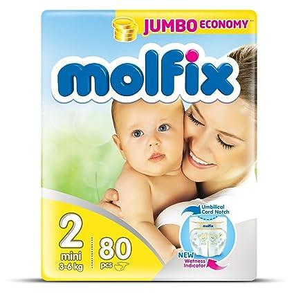 "Pañales tamaño 2 ""Mini"" Molfix bebé pañales Jumbo ..."
