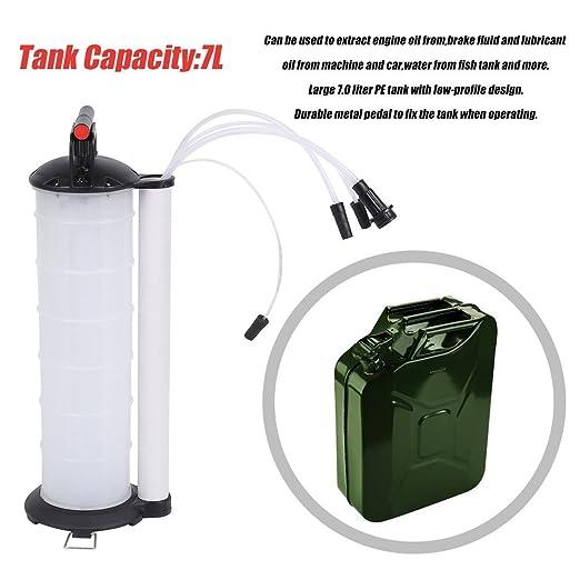 Extractor de líquido manual de 7 litros - Cambiador de aceite para repuesto de líquido de frenos automotriz, líquido de embrague y líquido de dirección ...
